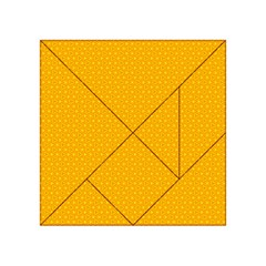 Texture Background Pattern Acrylic Tangram Puzzle (4  X 4 )