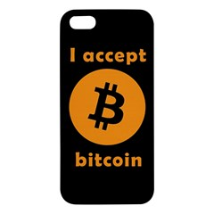 I Accept Bitcoin Iphone 5s/ Se Premium Hardshell Case