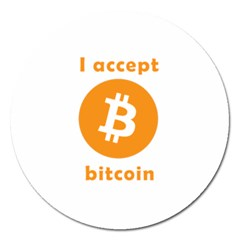 I Accept Bitcoin Magnet 5  (round)