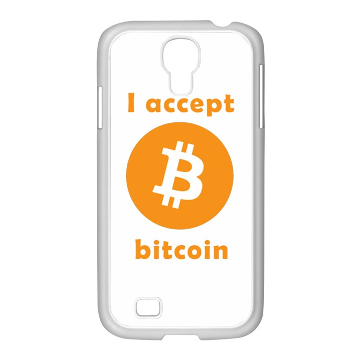 I accept bitcoin Samsung GALAXY S4 I9500/ I9505 Case (White)