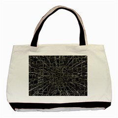 Black Abstract Structure Pattern Basic Tote Bag (two Sides)