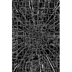 Black Abstract Structure Pattern 5 5  X 8 5  Notebooks