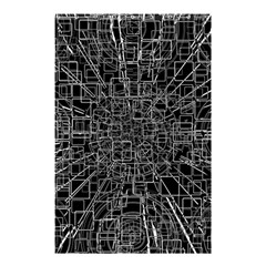 Black Abstract Structure Pattern Shower Curtain 48  X 72  (small)