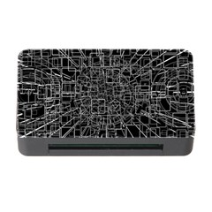 Black Abstract Structure Pattern Memory Card Reader With Cf