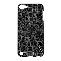 Black Abstract Structure Pattern Apple Ipod Touch 5 Hardshell Case