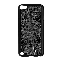 Black Abstract Structure Pattern Apple Ipod Touch 5 Case (black)