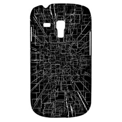 Black Abstract Structure Pattern Galaxy S3 Mini