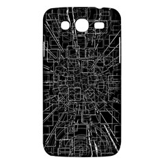 Black Abstract Structure Pattern Samsung Galaxy Mega 5 8 I9152 Hardshell Case
