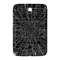 Black Abstract Structure Pattern Samsung Galaxy Note 8 0 N5100 Hardshell Case