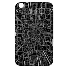 Black Abstract Structure Pattern Samsung Galaxy Tab 3 (8 ) T3100 Hardshell Case