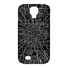 Black Abstract Structure Pattern Samsung Galaxy S4 Classic Hardshell Case (pc+silicone)