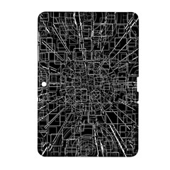 Black Abstract Structure Pattern Samsung Galaxy Tab 2 (10 1 ) P5100 Hardshell Case