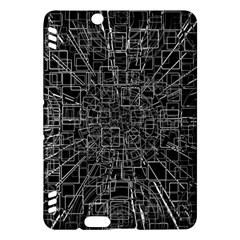 Black Abstract Structure Pattern Kindle Fire Hdx Hardshell Case