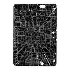 Black Abstract Structure Pattern Kindle Fire Hdx 8 9  Hardshell Case
