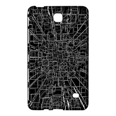 Black Abstract Structure Pattern Samsung Galaxy Tab 4 (8 ) Hardshell Case