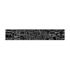 Black Abstract Structure Pattern Flano Scarf (mini)