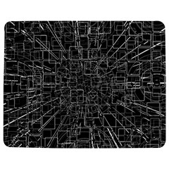 Black Abstract Structure Pattern Jigsaw Puzzle Photo Stand (rectangular)