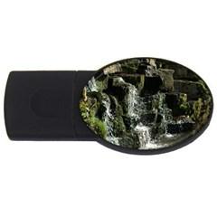 Water Waterfall Nature Splash Flow Usb Flash Drive Oval (4 Gb)