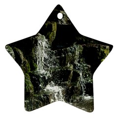 Water Waterfall Nature Splash Flow Star Ornament (two Sides)