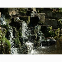 Water Waterfall Nature Splash Flow Canvas 12  X 16