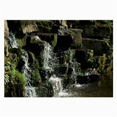 Water Waterfall Nature Splash Flow Large Glasses Cloth (2 Side)