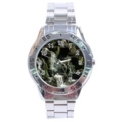 Water Waterfall Nature Splash Flow Stainless Steel Analogue Watch