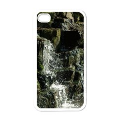 Water Waterfall Nature Splash Flow Apple Iphone 4 Case (white)