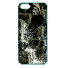 Water Waterfall Nature Splash Flow Apple Seamless Iphone 5 Case (color)