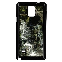Water Waterfall Nature Splash Flow Samsung Galaxy Note 4 Case (black)