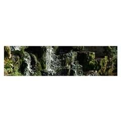 Water Waterfall Nature Splash Flow Satin Scarf (oblong)