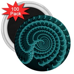 Fractals Form Pattern Abstract 3  Magnets (100 Pack)