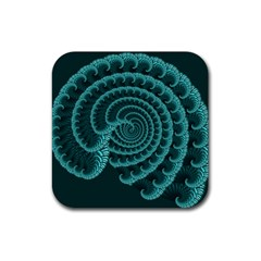 Fractals Form Pattern Abstract Rubber Square Coaster (4 Pack)