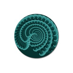 Fractals Form Pattern Abstract Magnet 3  (round)