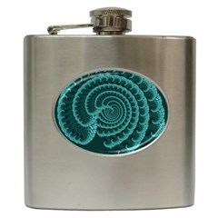 Fractals Form Pattern Abstract Hip Flask (6 Oz)