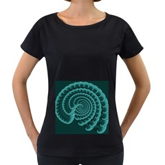 Fractals Form Pattern Abstract Women s Loose Fit T Shirt (black)