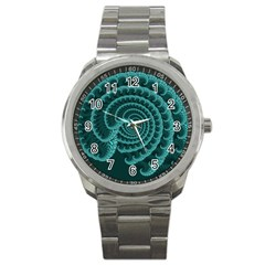 Fractals Form Pattern Abstract Sport Metal Watch