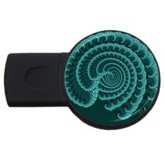 Fractals Form Pattern Abstract Usb Flash Drive Round (4 Gb)