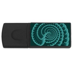Fractals Form Pattern Abstract Rectangular Usb Flash Drive