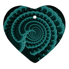 Fractals Form Pattern Abstract Heart Ornament (two Sides)