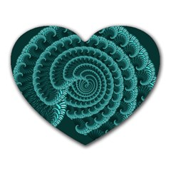Fractals Form Pattern Abstract Heart Mousepads