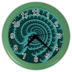 Fractals Form Pattern Abstract Color Wall Clocks
