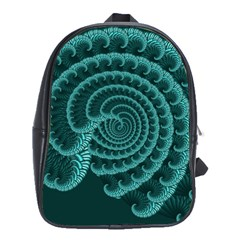 Fractals Form Pattern Abstract School Bag (large)