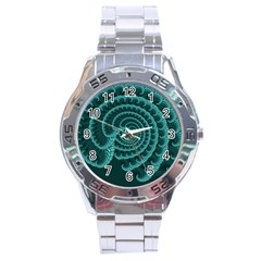 Fractals Form Pattern Abstract Stainless Steel Analogue Watch