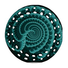 Fractals Form Pattern Abstract Round Filigree Ornament (two Sides)