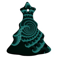 Fractals Form Pattern Abstract Christmas Tree Ornament (two Sides)