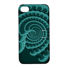 Fractals Form Pattern Abstract Apple Iphone 4/4s Hardshell Case With Stand
