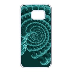 Fractals Form Pattern Abstract Samsung Galaxy S7 White Seamless Case