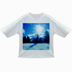 Ski Holidays Landscape Blue Infant/toddler T Shirts
