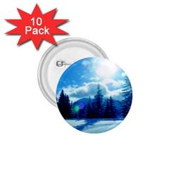 Ski Holidays Landscape Blue 1 75  Buttons (10 Pack)