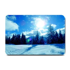 Ski Holidays Landscape Blue Small Doormat